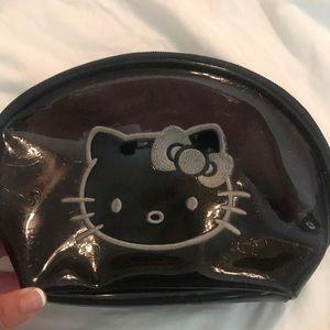 Hello Kitty Black Makeup Bag